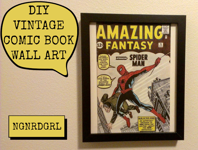 DIY Vintage Comic Book Wall Art | ngnrdgrl.blogspot.com