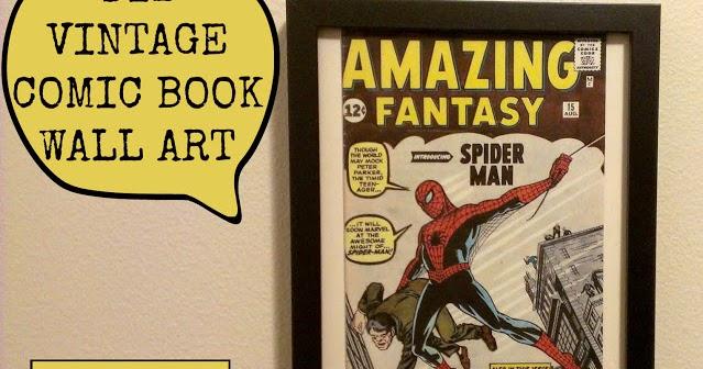 Making My Stead: DIY Vintage Comic Book Wall Art