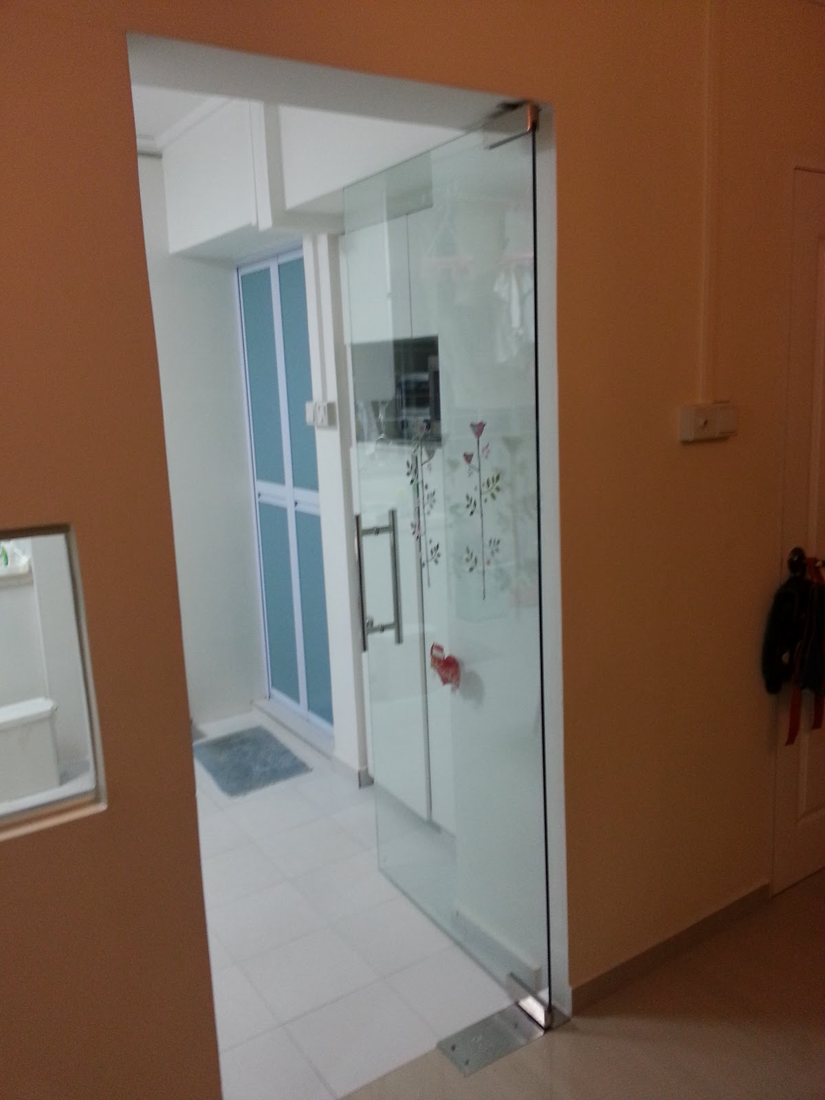 Our hdb flat renovation in 2009 glass door and kitchen living window glass door swing inwards planetlyrics Images