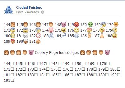 Como hacer nuevos emoticones en facebook ? - Ciudad Facebook Fotos ...