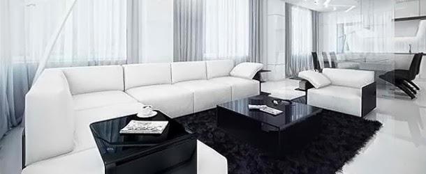 ... Salon en Noir et Blanc ~ Décoration Salon / Décor de Salon