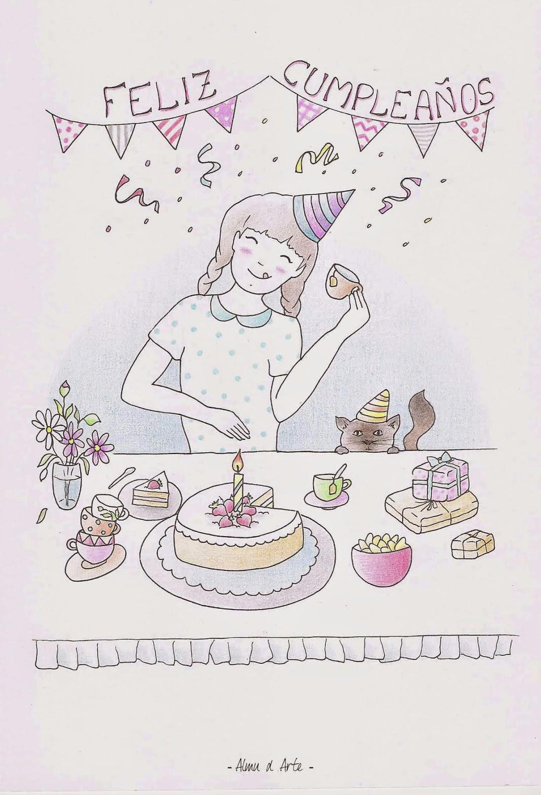 Ilustración de cumpleaños
