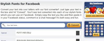 موقع لكتابة تعليقات بخطوط جميلة و مختلفة ونشره على الفيسبوك
