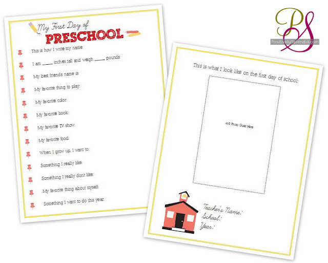First day of school interviews for kids free printables positively