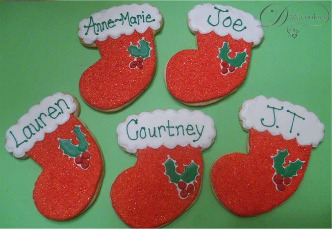 Diana S Dream Sweets Christmas Stocking Sugar Cookies With Royal