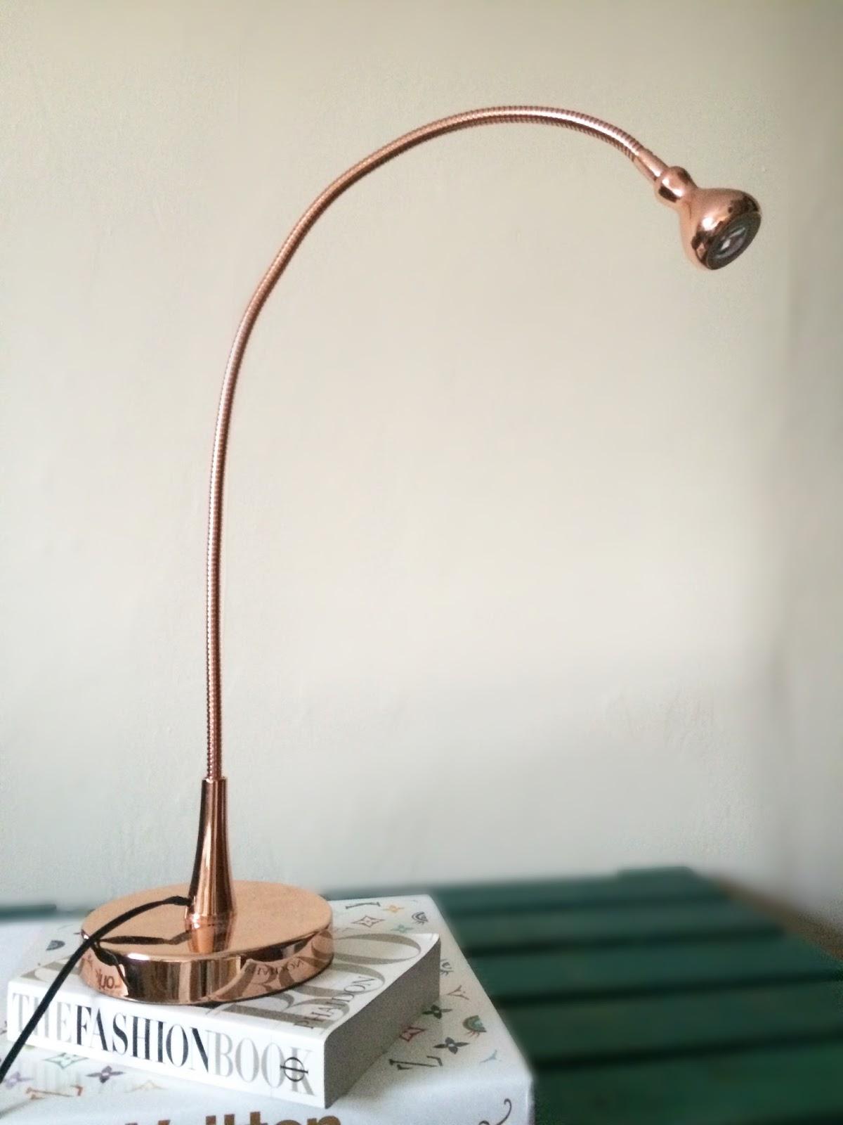 ikea copper led lamp