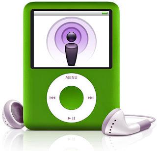 iPod with headphones