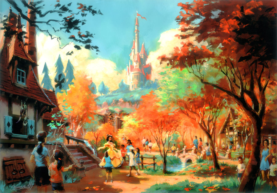 Magic Kingdom Drawings Magic Kingdom Fantasyland