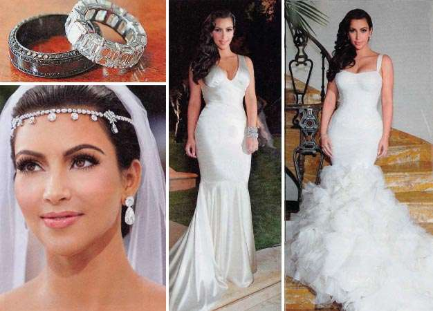 Kim Kardashian Mermaid Wedding Dress Replica 80