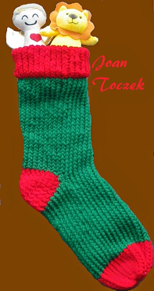 Christmas Stocking Loom Knitting Pattern : The Knifty Knitter: Christmas Stocking Pattern for the ...