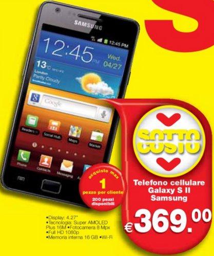 Il Galaxy S 2 a 369 euro un prezzo sottocosto da ipersimply
