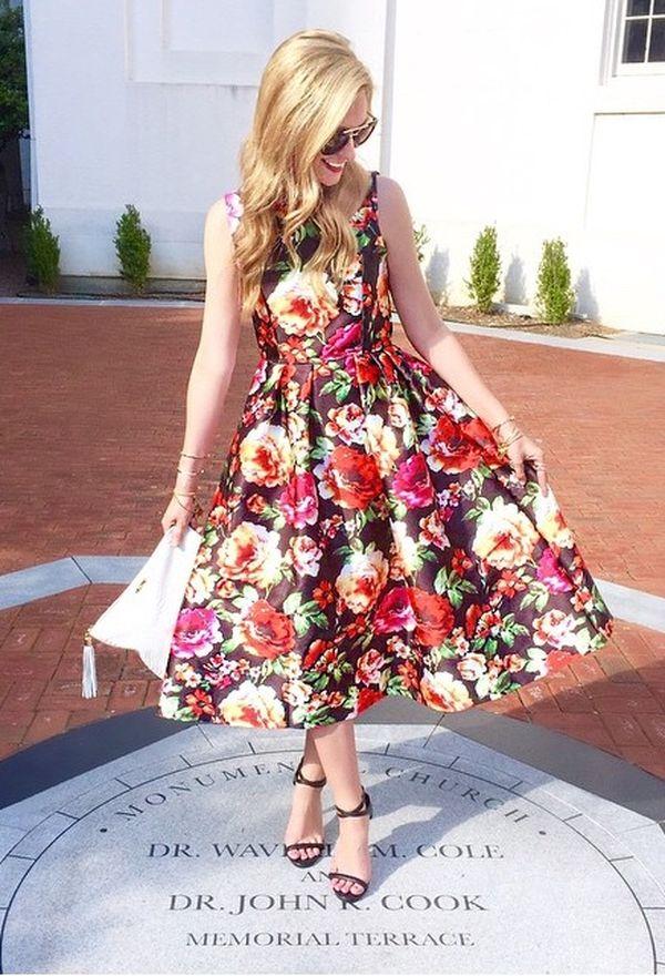 Vestidos de moda con flores