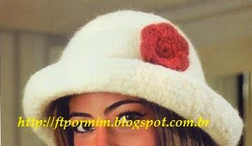 lindo chapéu de tricô feltrado