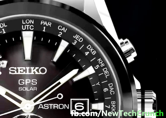 new seiko astron automatic gps wristwatch