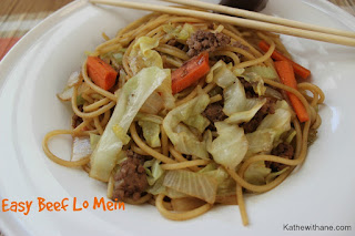 Easy Beef Lo Mein.  A simple take out favorite recipe you can make at home!