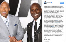 Tyrese Gibson says he won't do 'Fast 9' if The Rock is in it