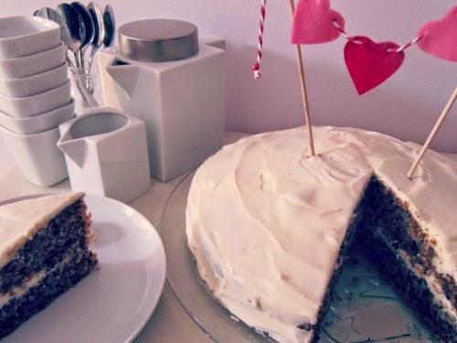 Presentación porción Carrot Cake