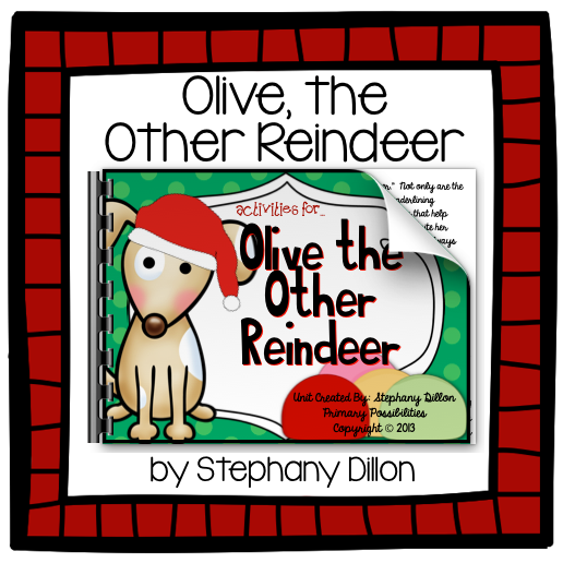 http://www.teacherspayteachers.com/Product/Olive-the-Other-Reindeer-Literature-Study-Printables-1013352