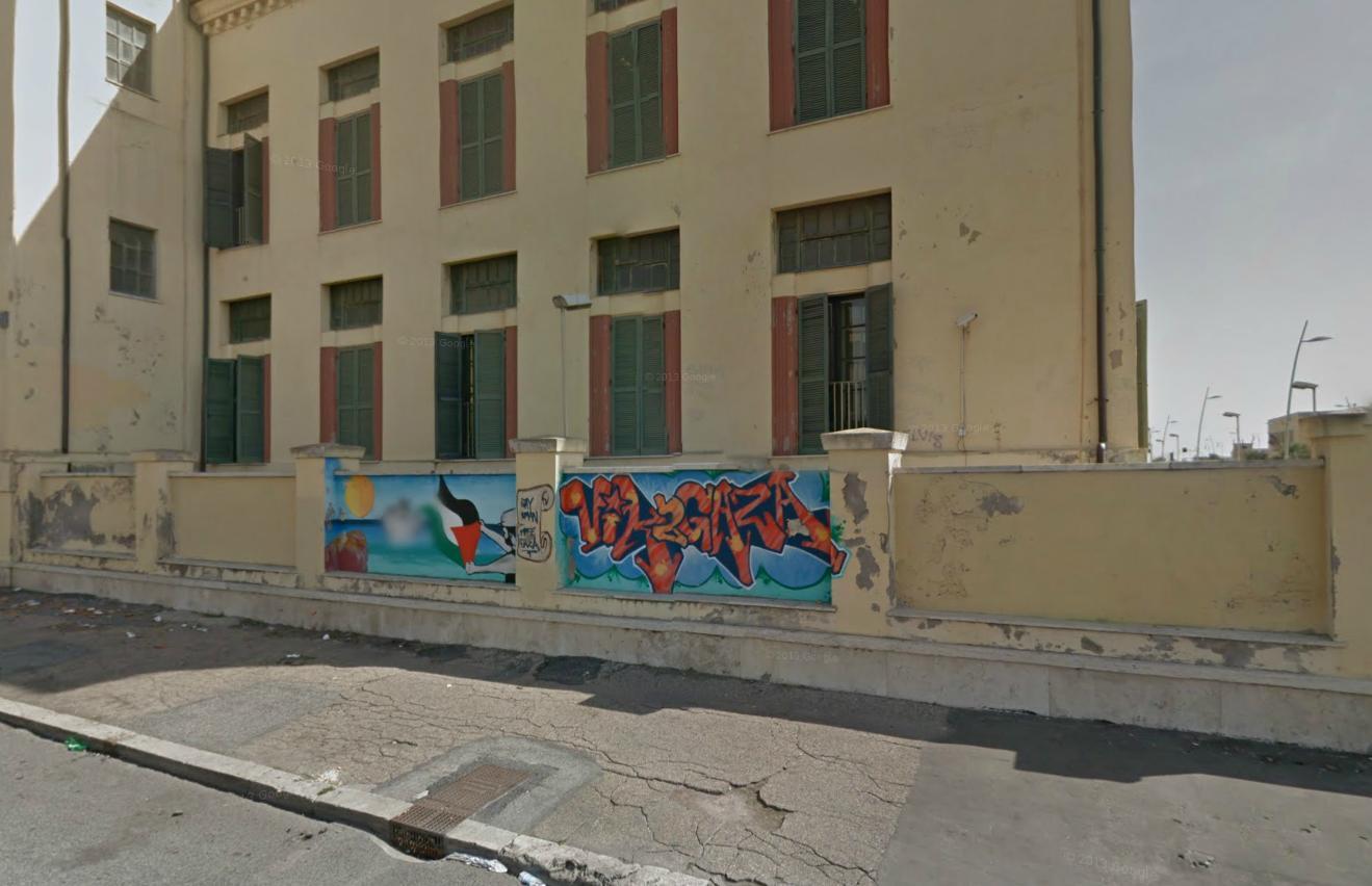 Sala d 39 attesa 1 pitture murali a ostia lido in memoria for Interno 1 ostia