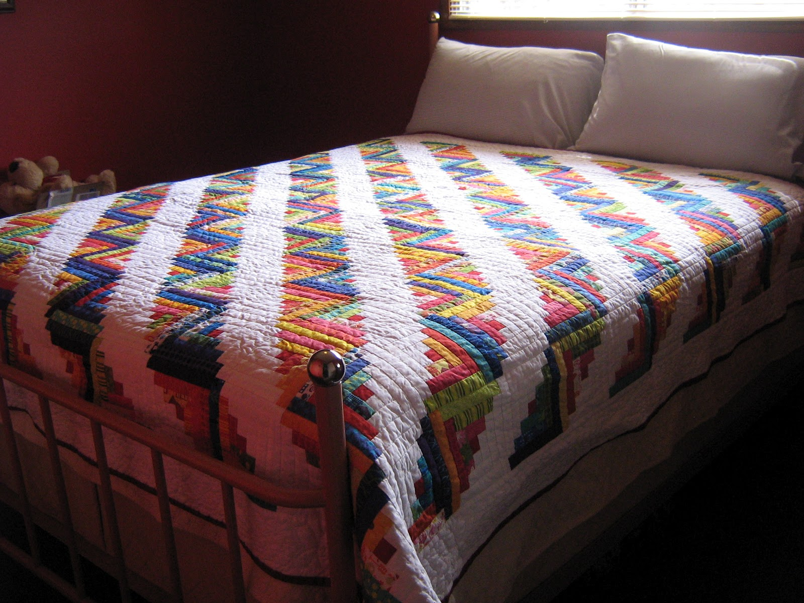 quilter: michelle's log cabin quilt