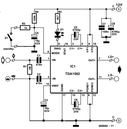 Pioneer P6400 Wiring Diagramgroup besides Tda2822 Audio  lifier 2w additionally Basic P     L moreover Basic Circuit Diagram Pcb Layout as well T1432 Kapanadze. on tda1562q amplifier circuit diagram
