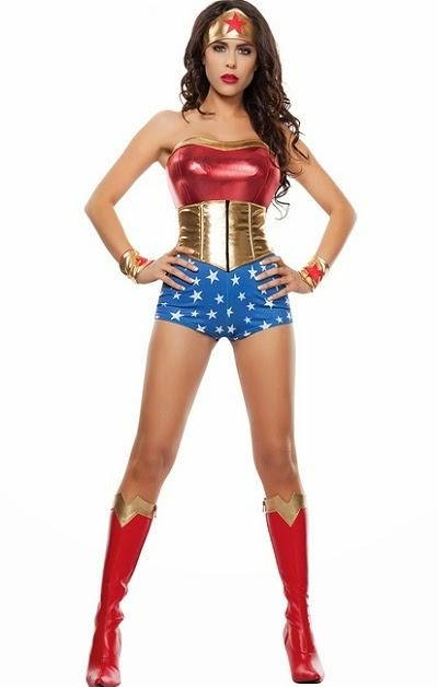 Mighty Gal Costume Halloween Woman Costume