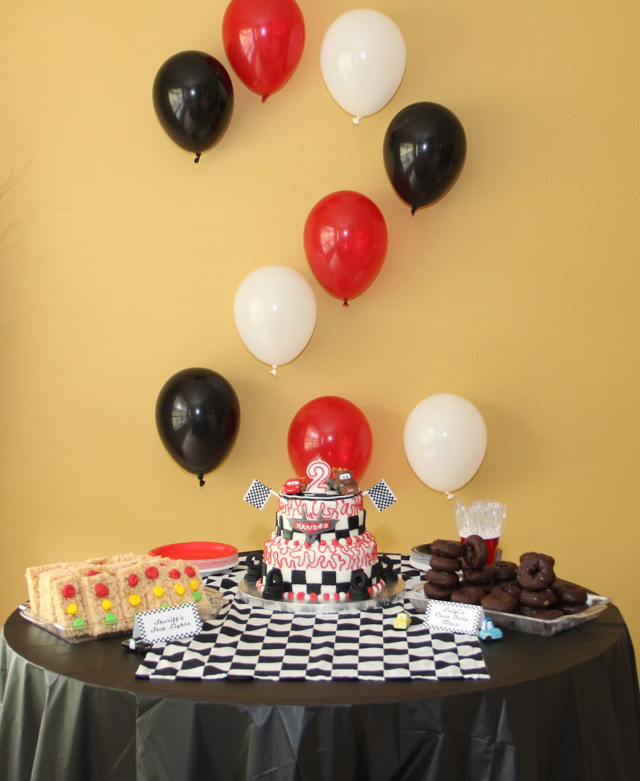 Cars Table Decorations 52 Week Pinterest Challenge Cars Themed Decorations