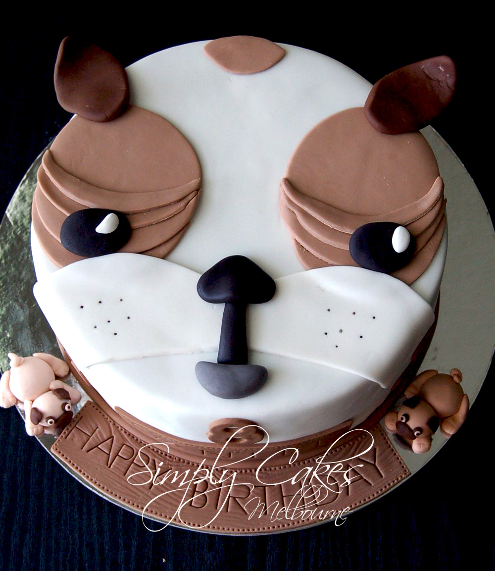 Dog Design Cake Recipes : Cooking In Melbourne: Pug Dog Cake for Daniel