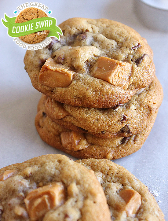 Salted Caramel Pecan Chocolate Chip Cookies- Momma Told Me Blog- 2014 #FBCookieSwap