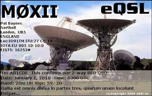 M0XII EQSL CARD