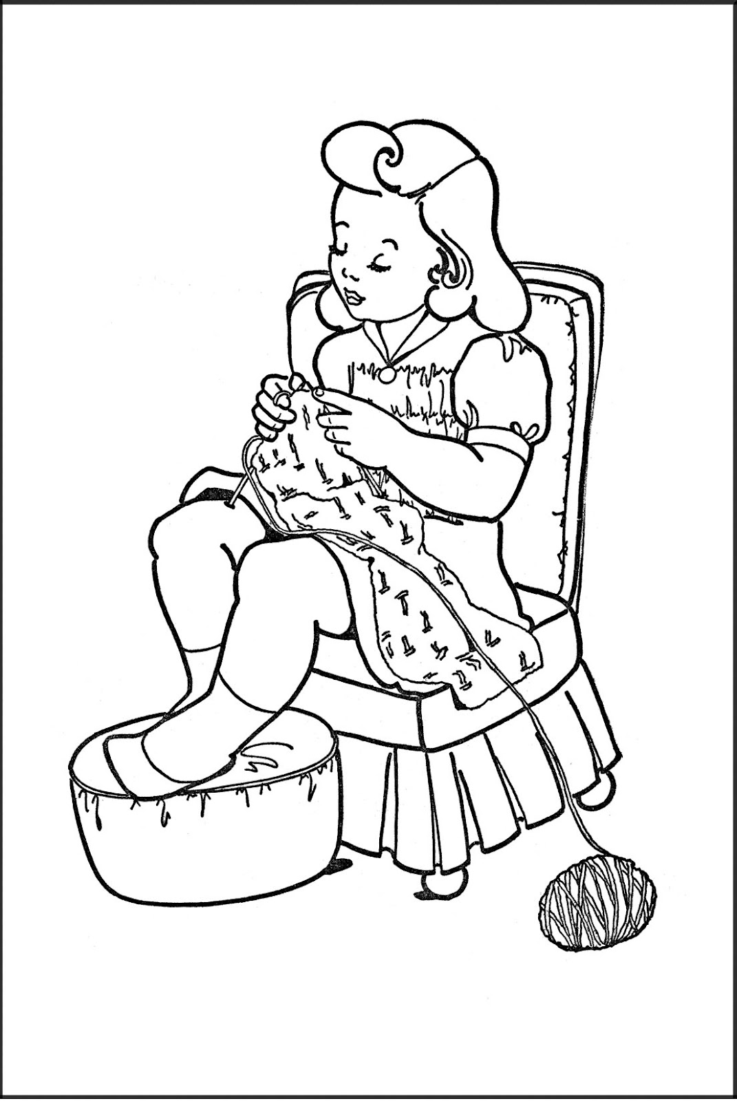 Brownie Elf Free Colouring Pages