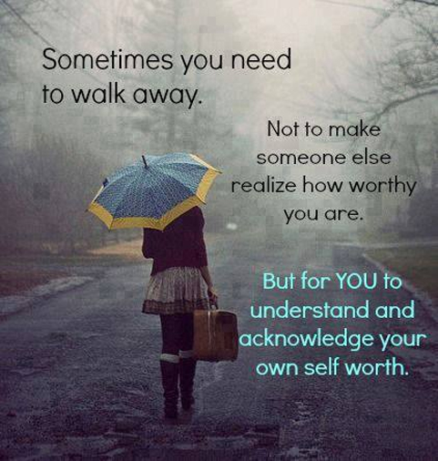 when to know to walk away from a relationship