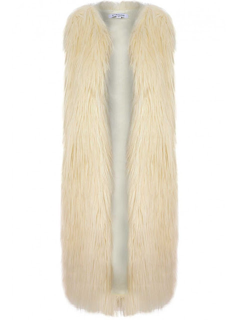 maxi fur vest at Fitzroy Boutique