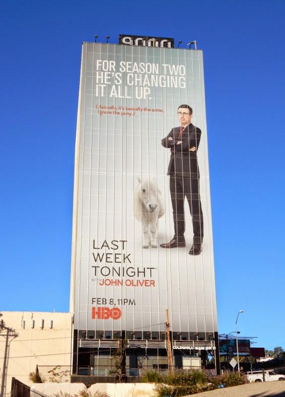 Last Week Tonight John Oliver pony billboard