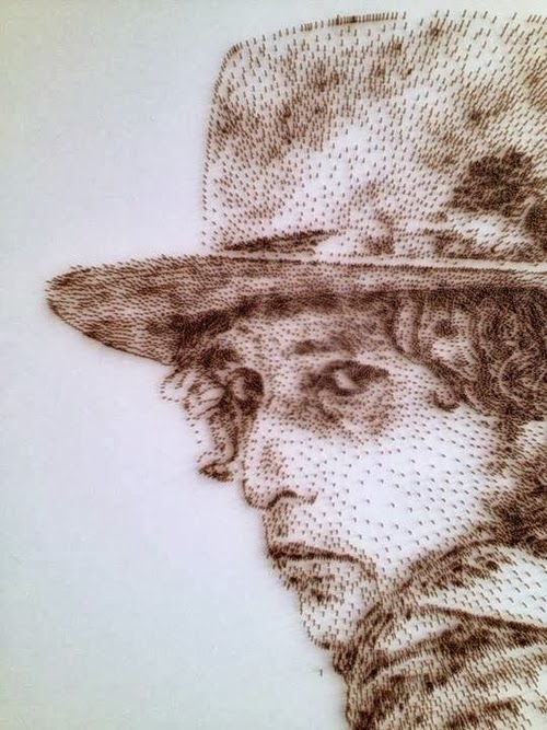 05-Bob-Dylan-David-Foster-Stippling-Art-with-Nails-www-designstack-co