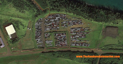 rental car graveyard hawaii camaro mustang abandoned