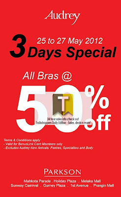 Audrey 3 Days Special 50% off 2012