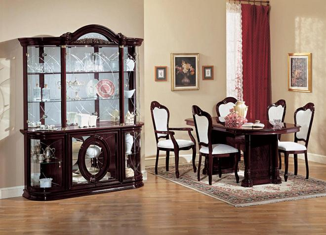 Antique Tuscan Formal Dining Room Italian Style Dining Room Furniture Sets Glossy Classic Design Ideas