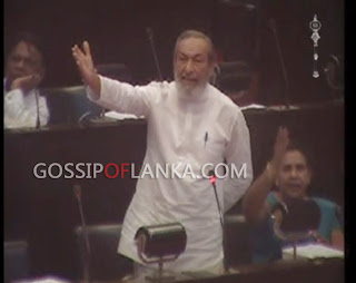 Vasudeva Nanayakkara scolds Ranil Wickramasinghe at parliament