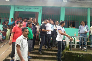 mirik landslide victims relief camp at toklang mechi pry school