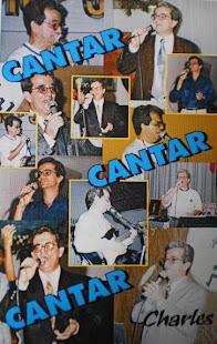 "Capa do livro ""Cantar,Cantar,Cantar"" do cantor Charles Meira"