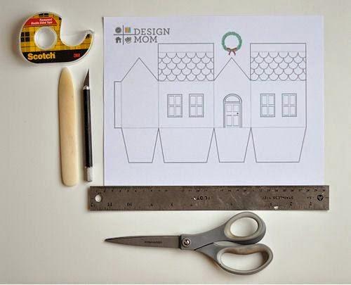 ... kertas karton tebal, pensil, penggaris, gunting, cutter, dan alas
