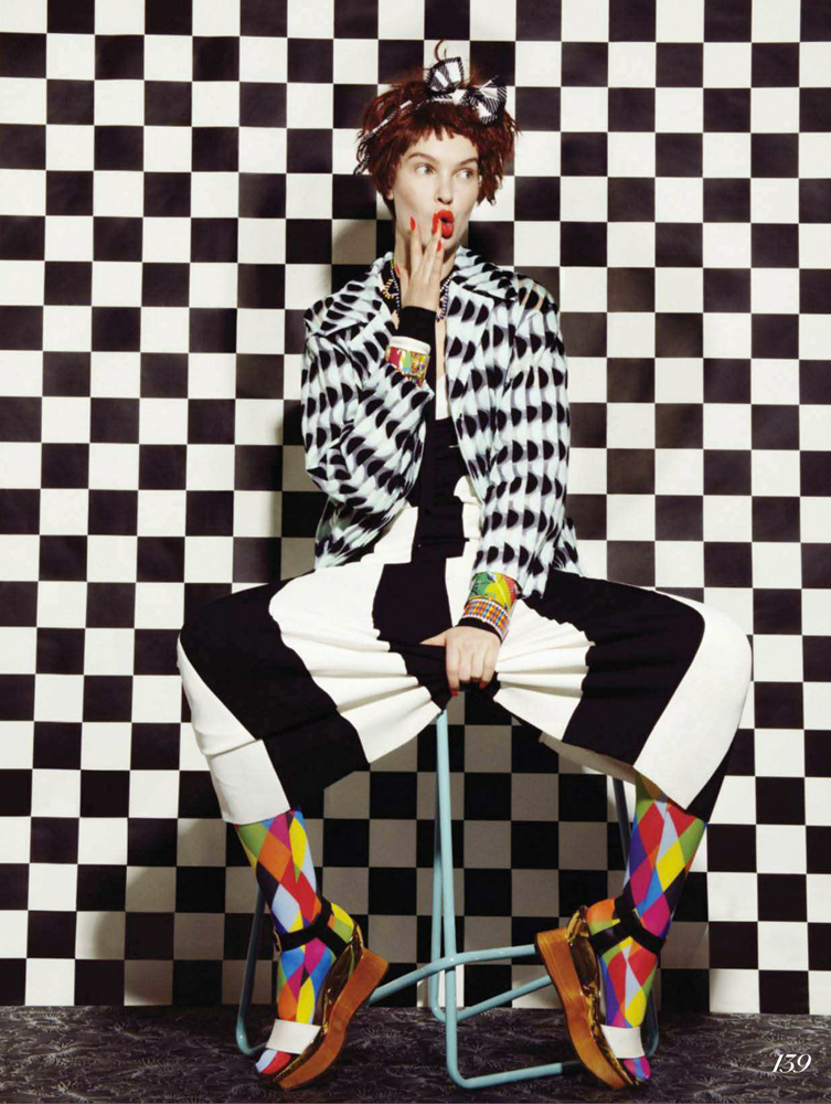 Prints on prints checkerboard graphic prints fashion black and white stripe fashion