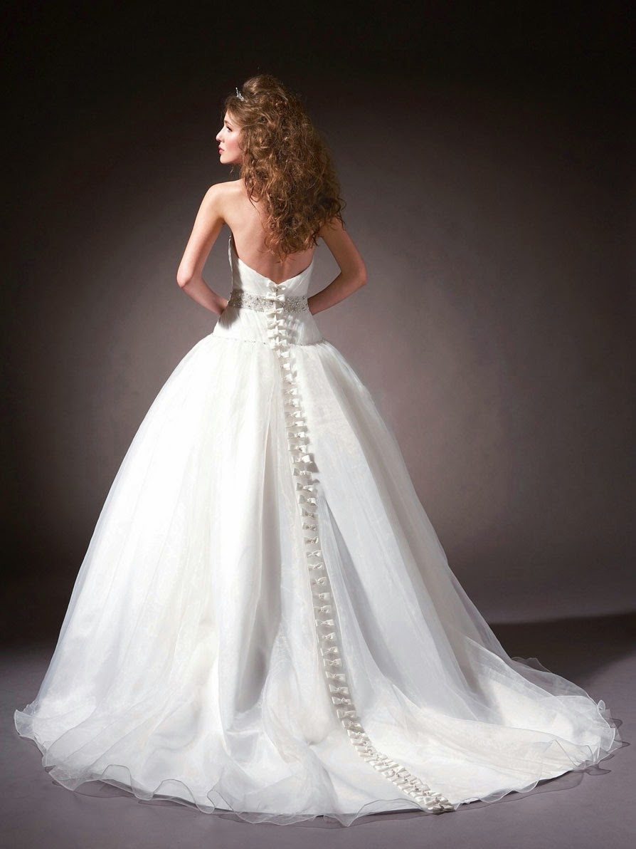 Beautiful Open Back Wedding Dresses with Trains 2013 Ideas Photos HD