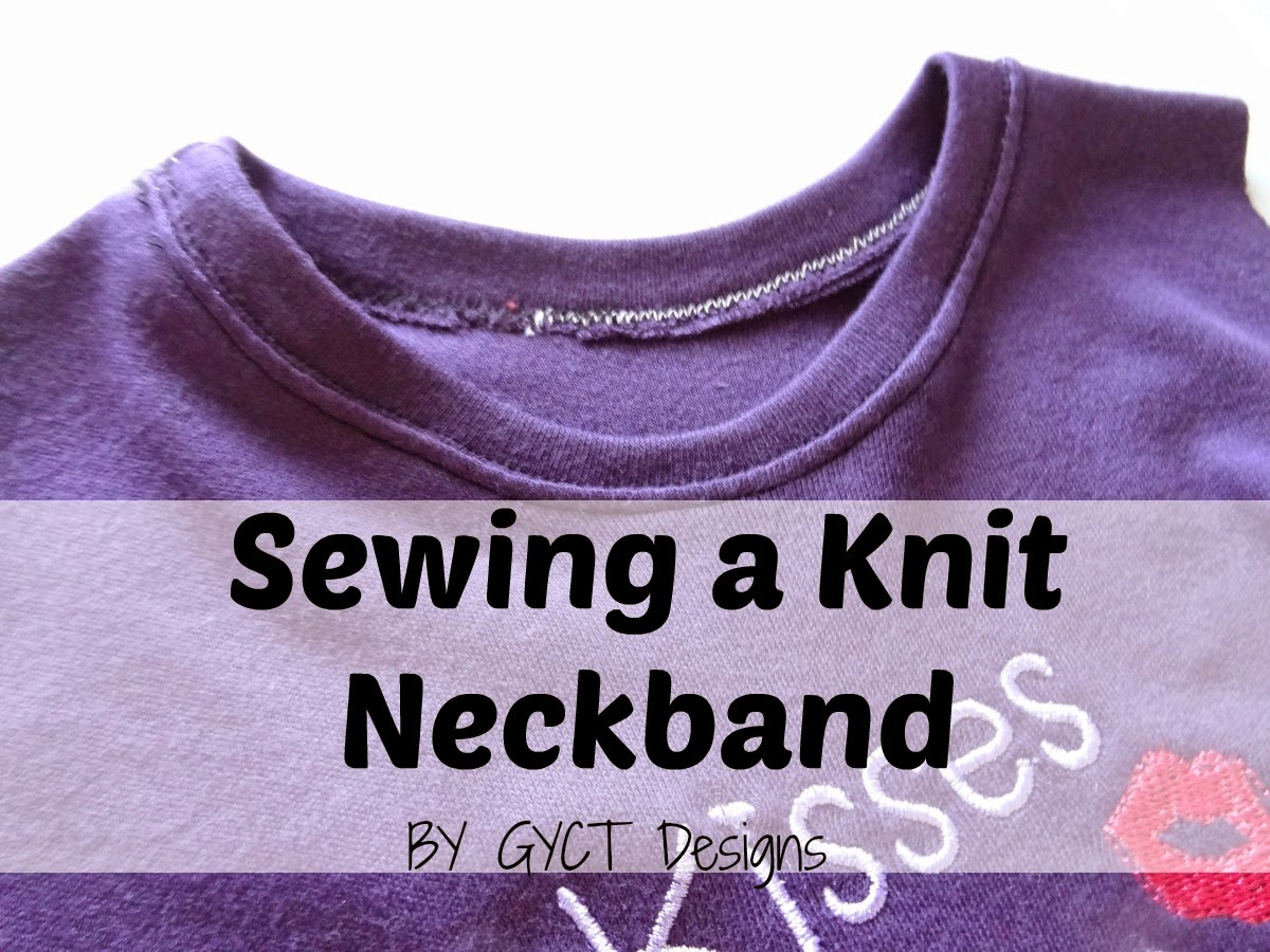 Sewing a Knit Neckband by GYCT Designs