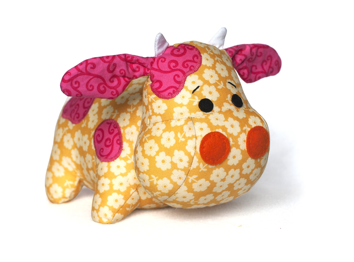 stuffed animal cow pattern