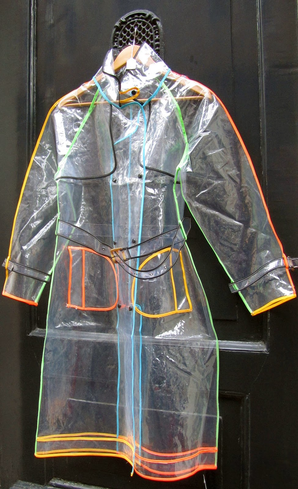 see-through raincoat