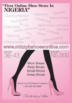 THE 1ST ONLINE SHOE STORE IN NIGERIA BERTHS