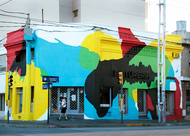 "Elian ""Saturated Corner"" New Mural - Cordoba, Argentina"
