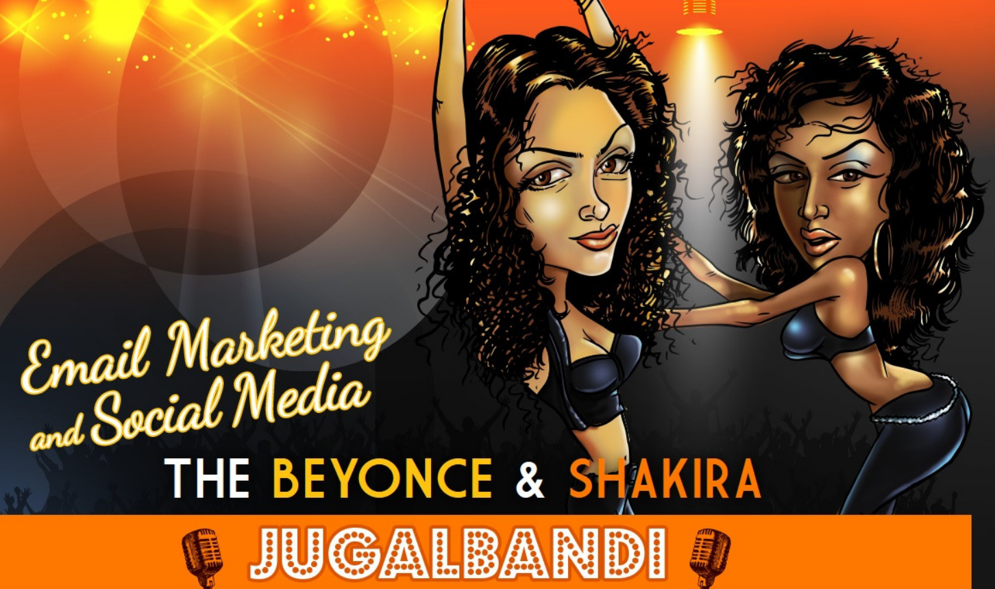Social Media And Email Marketing: The Shakira And Beyonce Jugalbandi - infographic